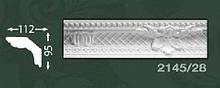Плінтус стельовий з орнаментом з пінопласту Baraka Dekor 2145/28