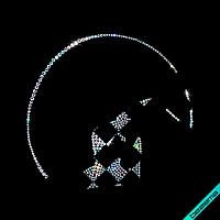 Аппликации на полусапожки термо Гимнастка с лентой (Стекло, 2мм-бенз., 2.8мм-бенз., 4мм-бенз.), фото 1
