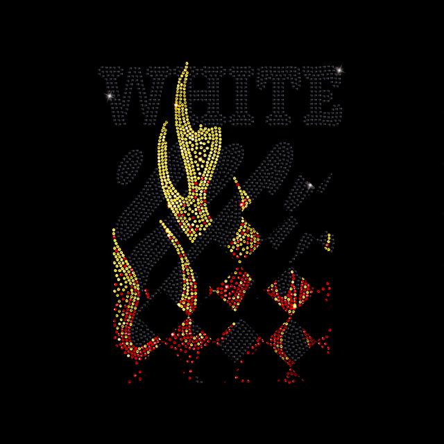 Термопечать на капри Логотип с огнем (Стекло, 2.8мм-кристалл, 2мм-зол., 2мм-красн.)