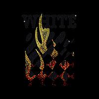 Термопечать на капри Логотип с огнем (Стекло, 2.8мм-кристалл, 2мм-зол., 2мм-красн.), фото 1