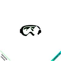 Термошевроны на накидки Лыжные очки [Свой размер и материалы в ассортименте]