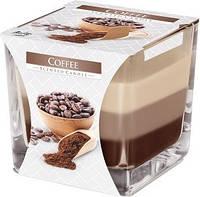 Свеча ароматизированная трехцветная кофе Bispol 8 см (snk80-89)