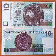 Польша 10 злотых 1994 UNC