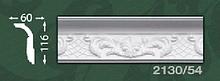Плінтус стельовий з орнаментом з пінопласту Baraka Dekor 2130/54