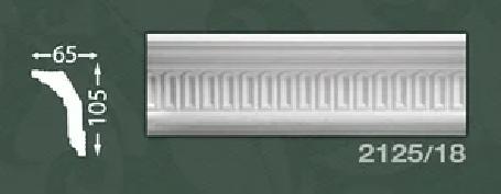 Плинтус потолочный с орнаментом из пенопласта Baraka Dekor 2125/18