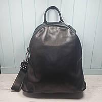 Женский стильный повседневный кожаный рюкзак черный