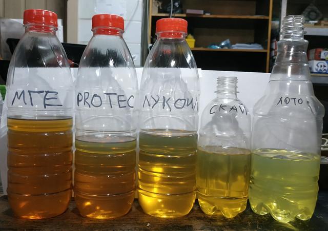 Сравнение гидравлического масла