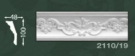 Плинтус потолочный с орнаментом из пенопласта Baraka Dekor 2110/19