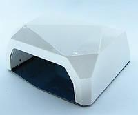 SUN Diamond гибридная светодиодная лампа UV/LED 36 W для ГЕЛЯ и ГЕЛЬ-ЛАКА многогранник , сенсор белая