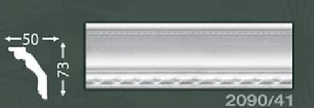 Плинтус потолочный с орнаментом из пенопласта Baraka Dekor 2090/41
