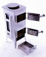 Піч сталева буржуйка 170 м2 9 шамотних цеглин (Піч буржуйка стальна з шамотноі цегли), фото 1