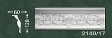 Плінтус стельовий з орнаментом з пінопласту Baraka Dekor 2140/17
