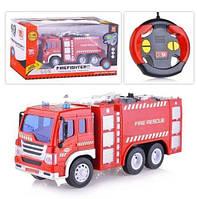 Пожарная машина на радиоуправлении для мальчиков модель WY995,цвет красный
