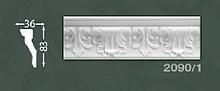 Плінтус стельовий з орнаментом з пінопласту Baraka Dekor 2090/1