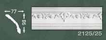 Плінтус стельовий з орнаментом з пінопласту Baraka Dekor 2125/25
