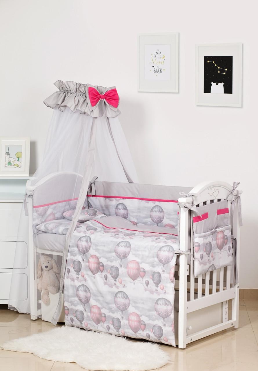 Детское постельное белье Twins Premium Modern II P-111 Воздушный шар серый 8 эл