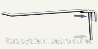 Крючок одинарный L - 350 5 мм (белый)