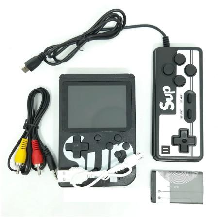 Портативная приставка с джойстиком консоль Retro FC Game Box Sup dendy 400 in 1 Черный