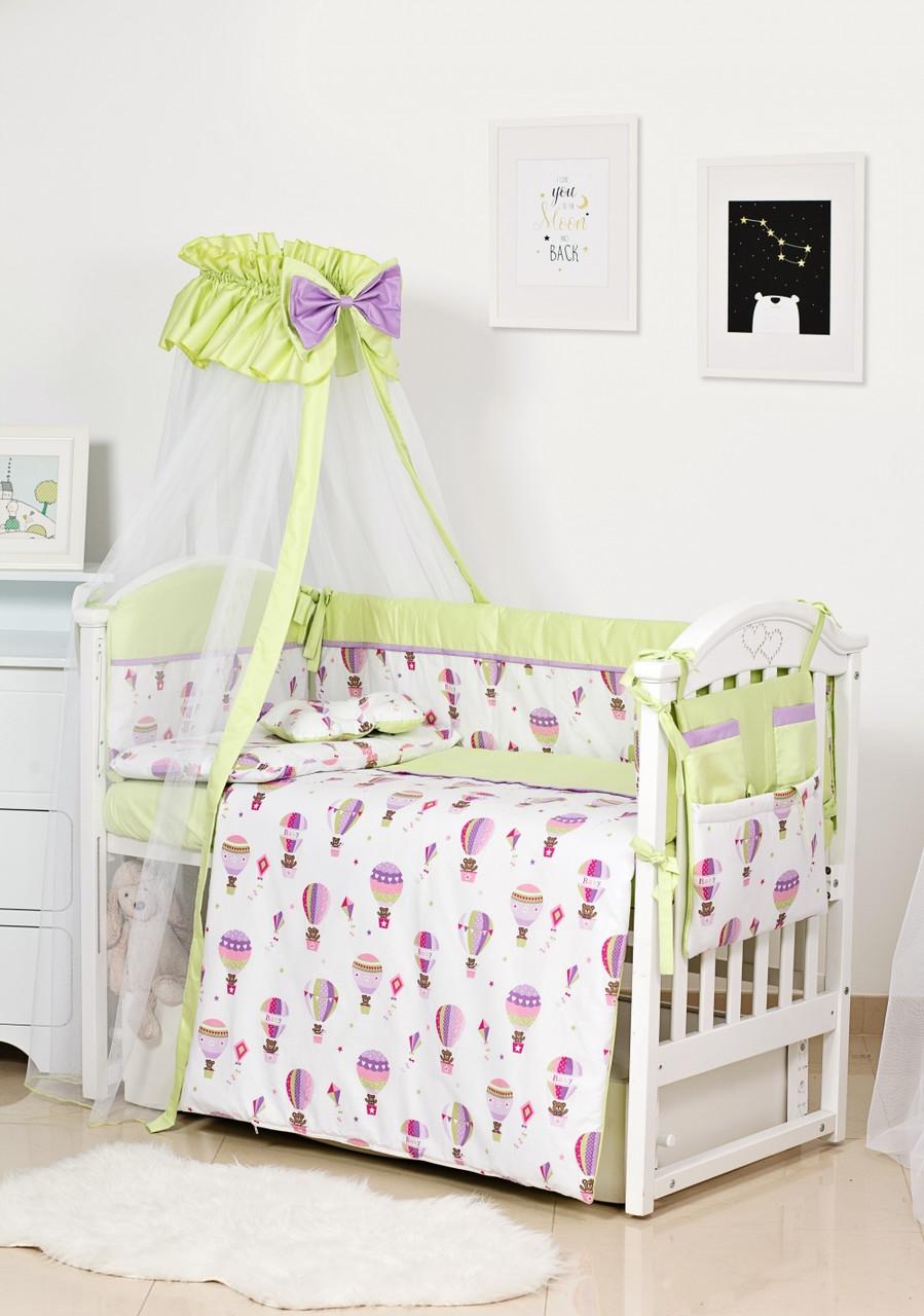 Детское постельное белье Twins Premium Modern II P-113 Воздушный шар зеленый 8 эл