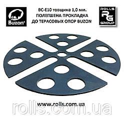 U-E10 1,0 мм, Полегшена прокладка поглинає шум та вібрацію керамогранітних плит на терасних опорах Buzon