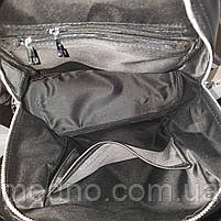 Жіночий шкіряний міський рюкзак на одне відділення чорний, фото 10