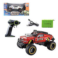 Машина, для игры мальчикам, на больших колесах, цвет красный, модель HC278592, в коробке