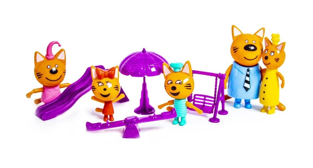 """Игровой набор фигурки Три Кота с аксессуарами """"Детская площадка"""" 5 в 1 scs"""