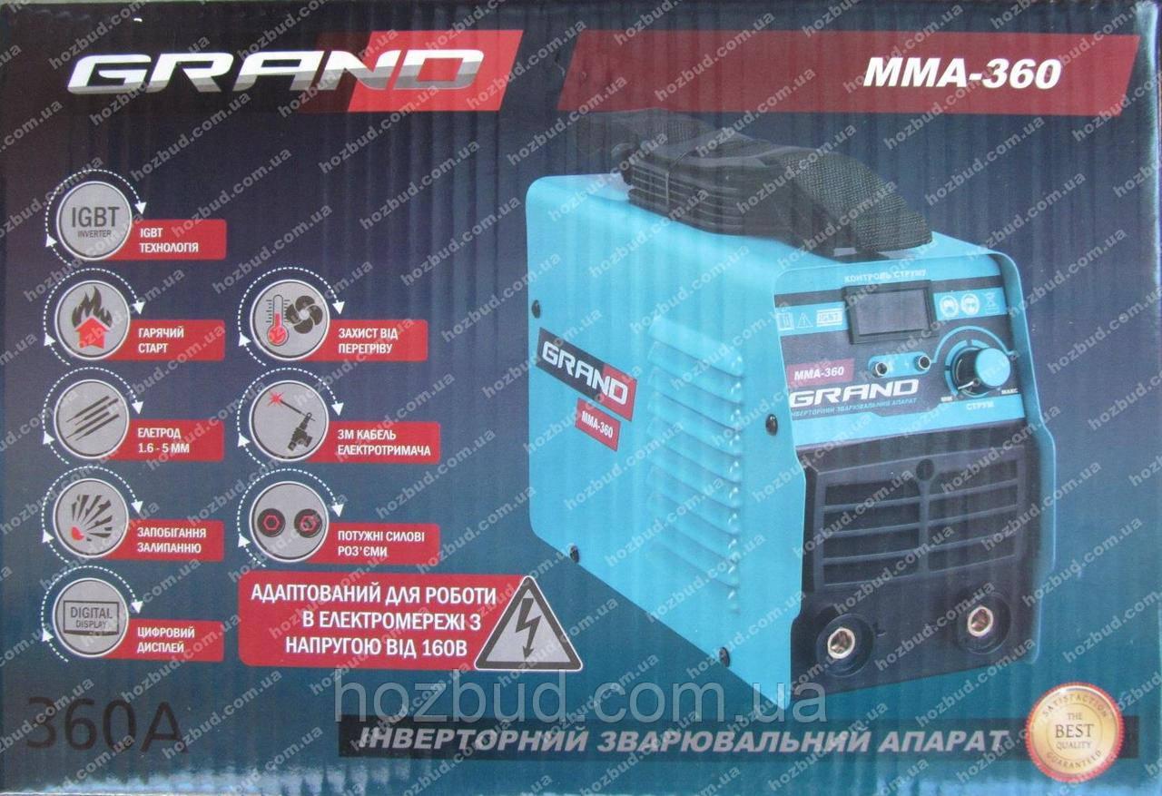 Зварювальний апарат Grand ММА-360 (дисплей)