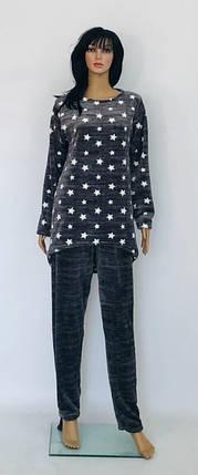 Пижама большого размера из махры с рисунком звезды 52-58 р, фото 2