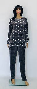Пижама большого размера из махры с рисунком звезды 52-58 р