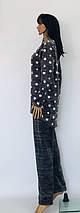 Пижама большого размера из махры с рисунком звезды 52-58 р, фото 3