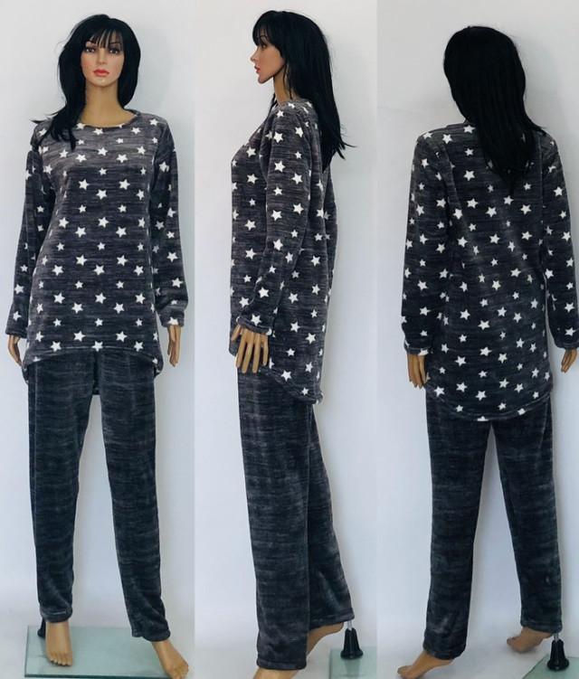 картинка махровая пижама тено-серого цвета