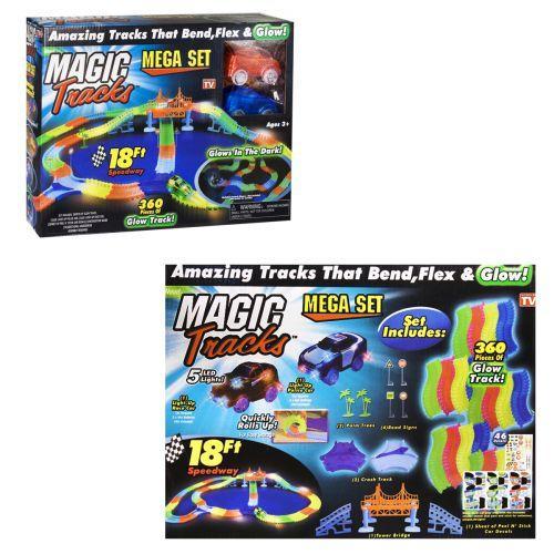 """Трек """"Magic Tracks"""" светящийся в темноте, со звуковыми эффектами (трек, наклейки, машинка /360 деталей)  sct"""