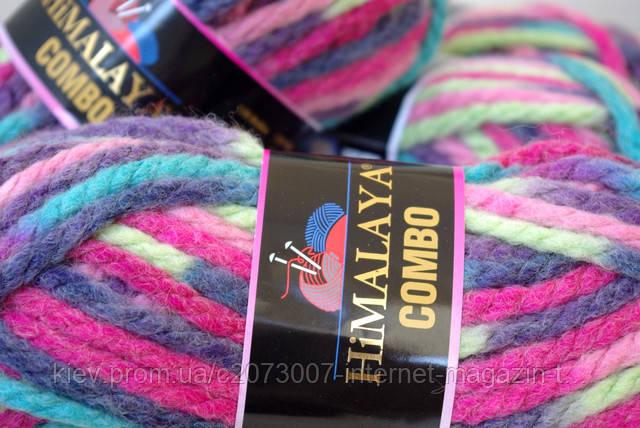 Поступление полушерстяной толстой пряжи Himalaya Combо