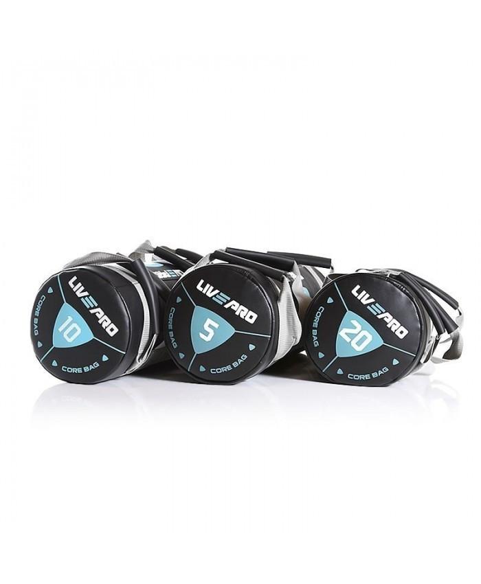 Мешок для кроссфита LivePro POWER BAG 20 кг черный/серый