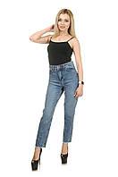 Жіночі джинси МОМ світло-блакитні с потертостями LOVEST