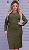 """Женское теплое платье из ангоры однотонное черное """"Rondo"""": большие размеры 50, 52, 54, фото 6"""