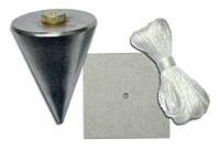 Отвес каменщика с пластиной для крепления Favorit (200 и 300г)
