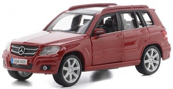 Автомодель Bburago - Mercedes Benz GLK-Class червоний, сріблястий, 1:32 Автомодель - MERCEDES BENZ GLK-CLASS