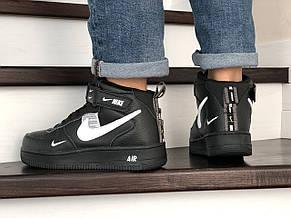 Мужские демисезонные кроссовки Nike Air Force,черно-белые, фото 3