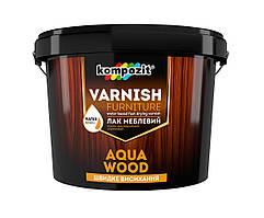 Лак мебельный Kompozit AQUA WOOD (0.75 л) Глянцевый