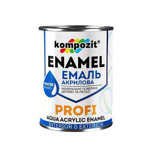 Эмаль акриловая Kompozit Profi (0.8 л) Белая Глянцевая