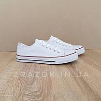Белые Кеды конверсы в стиле Converse all star кеды сетка низкие, фото 3