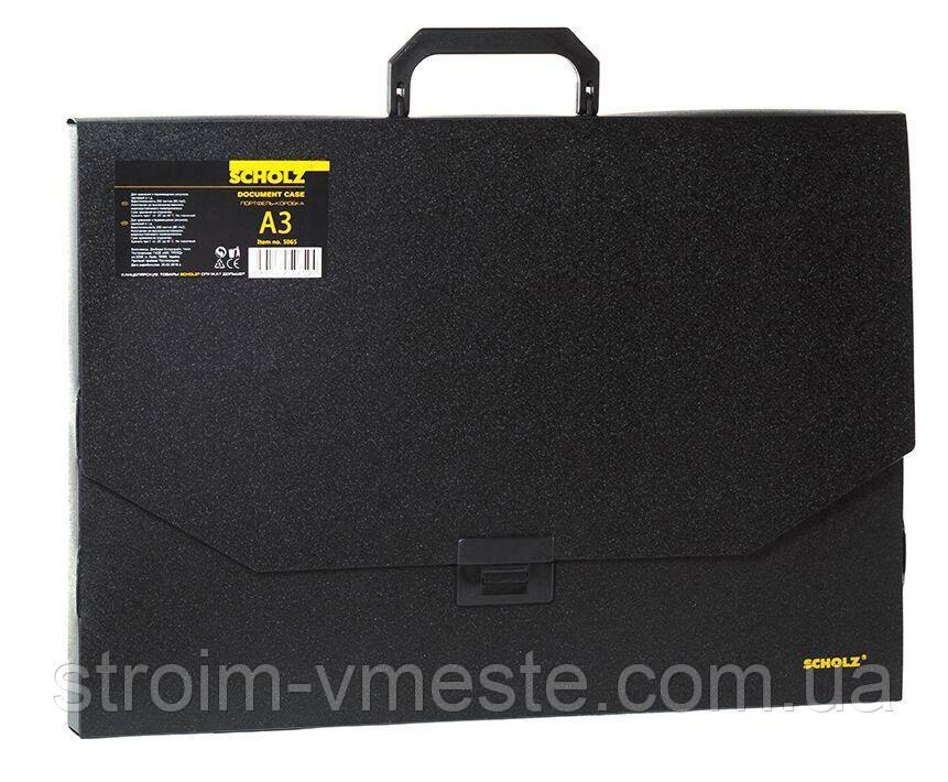 Пластиковый портфель А3 SCHOLZ 5065 1 отделение черный