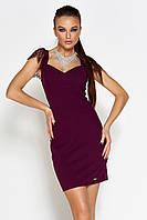 Женское платье-мини с короткими рукавами из гипюра (Алиса jd)