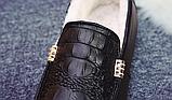 Мужские зимние мокасины с мехом Крокодил (на меху) Размер 41 42 43 44, фото 4