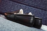 Мужские зимние мокасины с мехом Крокодил (на меху) Размер 41 42 43 44, фото 7