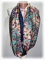 Тёплый шарф снуд на флисе, бирюзовый