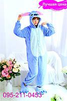 Пижама кигуруми женская и мужская Стич, S (рост 150 - 160 см)