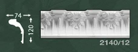 Плинтус потолочный с орнаментом из пенопласта Baraka Dekor 2140/12